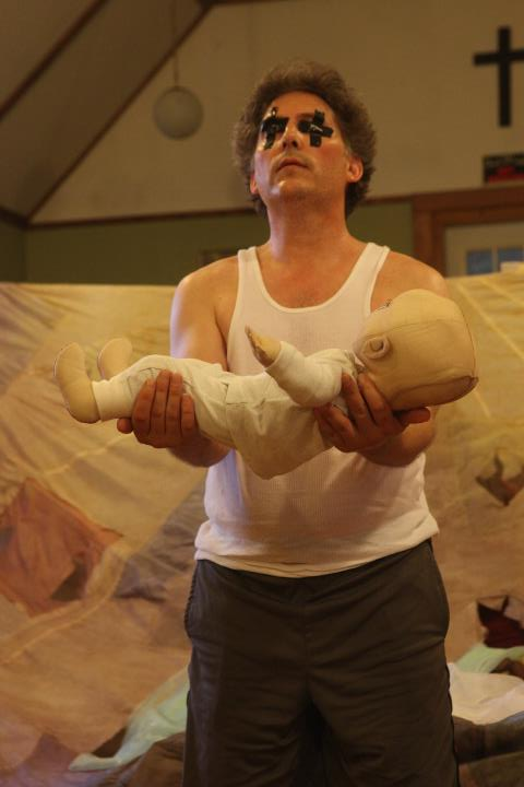 "Our first Sleeper, Dave Demke, from ""The Dick and The Rose"" premiere production at the Edinburgh Fringe Festival 2011"