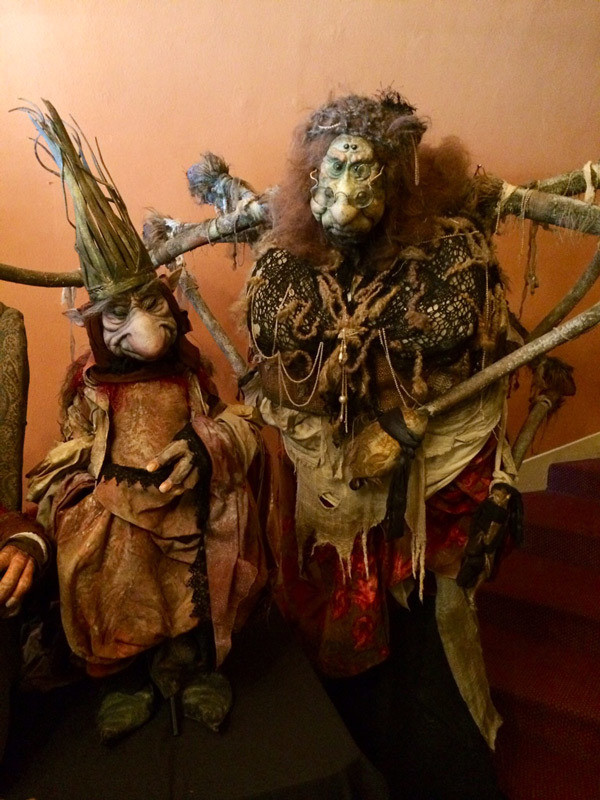 Toby Froud's amazing Spider puppet with an equally beautiful friend.  (Source: portlandmonthlymag.com)