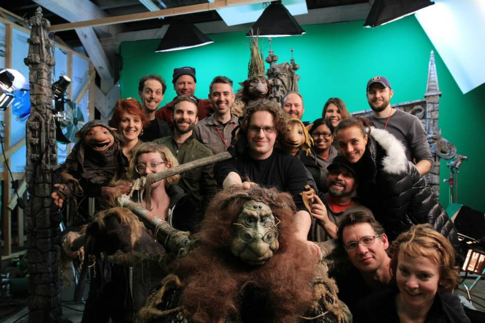 Froud's amazingly skilled crew (source: stripeypajamaproductions.com)