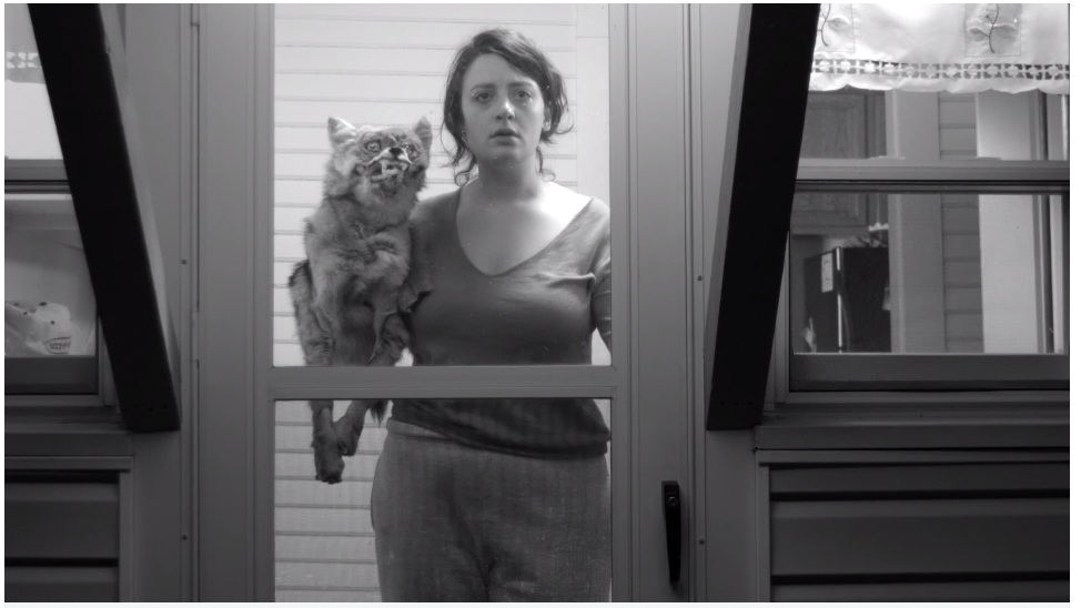 """""""What do we do now?"""" Still from upcoming short film """"COYOTE GIRL"""" starring Gail Shalan and Robert Biggs"""