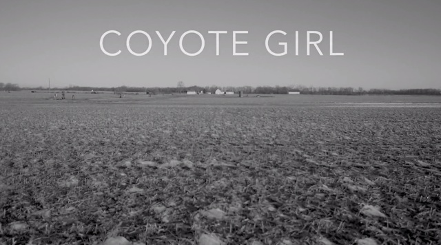 "Screen Shot from opening of ""Coyote Girl"""